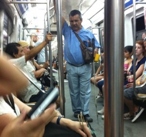 Blind Man On The Subte